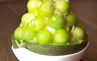 Nấu ăn món ngon mỗi ngày với Whipping Cream, Cách làm bánh mousse dưa lưới giống Patbingsu Hàn Quốc kết quả