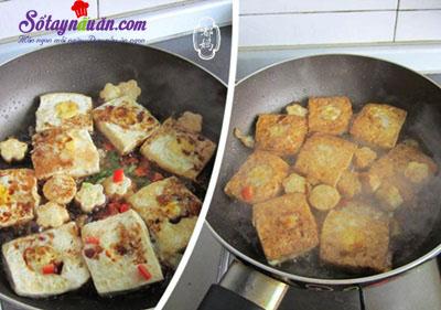 Cách làm đậu phụ chiên trứng cút kèm xốt ngon tuyệt hảo 5