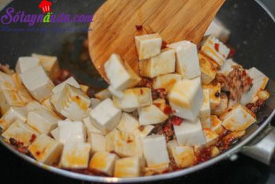 Cách làm đậu phụ Tứ Xuyên nổi tiếng cực kì đơn giản 4