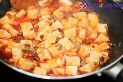Cách làm đậu phụ Tứ Xuyên nổi tiếng cực kì đơn giản 5