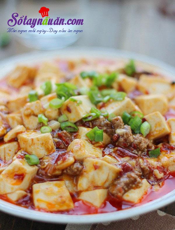 Cách làm đậu phụ Tứ Xuyên nổi tiếng cực kì đơn giản kết quả