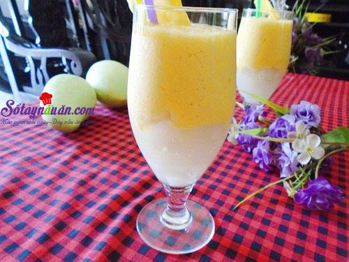 Công thức làm sinh tố xoài thạch dừa mát lạnh ngày hè 5