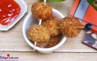 Nấu ăn món ngon mỗi ngày với Đậu phụ, Gà viên đậu phụ giòn rụm ngon ngon 8