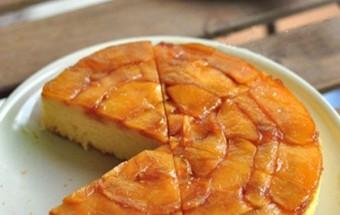 món ngon dễ làm, Hướng dẫn làm bánh táo úp ngược bằng nồi cơm điện kết quả