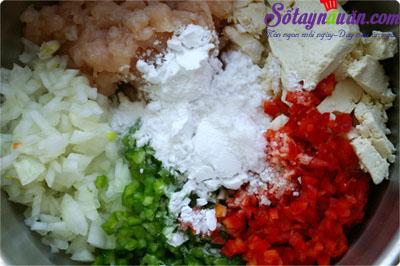 Hướng dẫn làm đậu phụ bọc thịt gà chiên giòn rụm tuyệt ngon 2