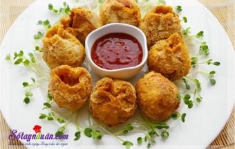Nấu ăn món ngon mỗi ngày với Bột ngô, Hướng dẫn làm đậu phụ bọc thịt gà chiên giòn rụm tuyệt ngon kết quả
