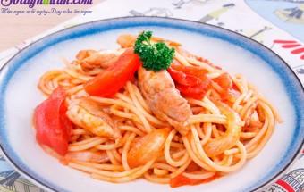 món ăn cho bé, Hướng dẫn làm mì Ý xào thịt gà bổ dưỡng cho bữa sáng kết quả