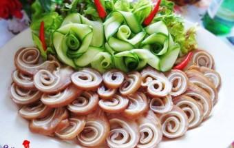 dạy nấu ăn ngon, Hướng dẫn làm tai heo ngũ vị cuộn giòn ngon tuyệt hảo thành phẩm