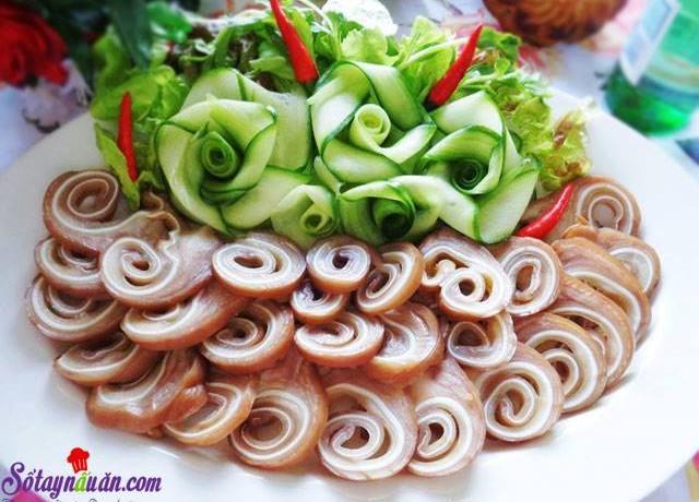 Nấu ăn, Hướng dẫn làm tai heo ngũ vị cuộn giòn ngon tuyệt hảo