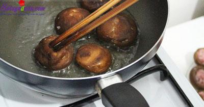 Nấm nhồi thịt sốt cà 4