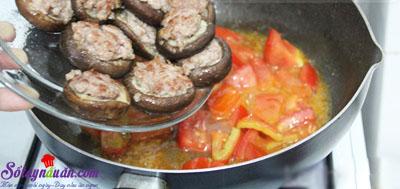 Nấm nhồi thịt sốt cà 7