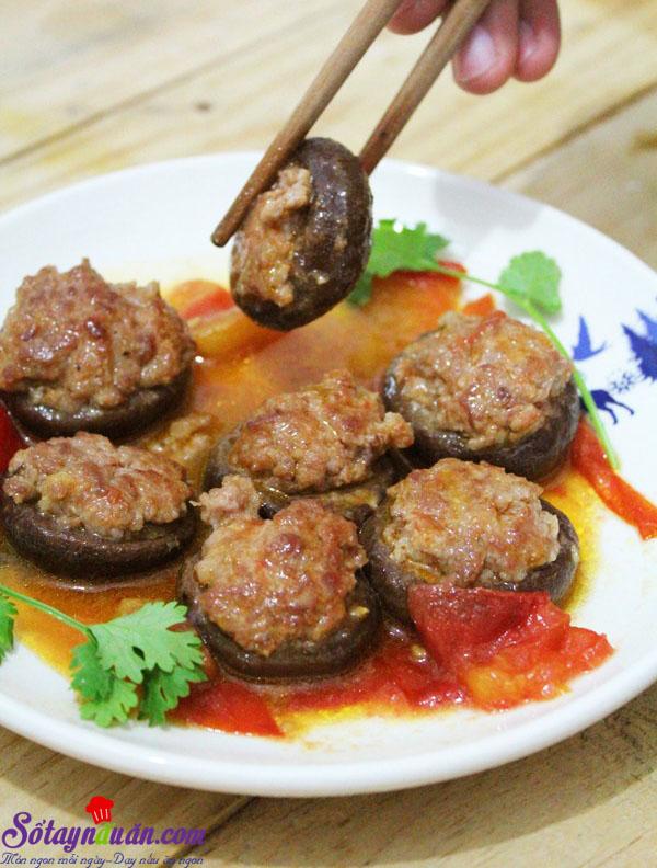 Nấm nhồi thịt sốt cà 8