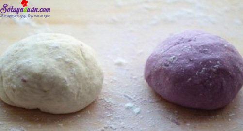 Cách làm bánh bao khoai lang tím 2