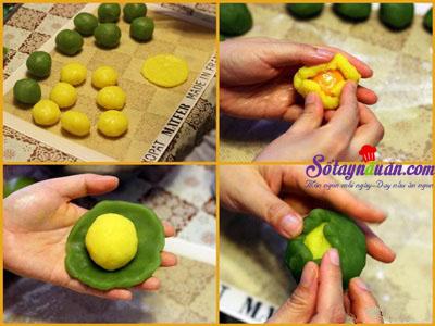 Bí quyết làm bánh dẻo nhân 3 lớp  cực ngon đón trung thu 5