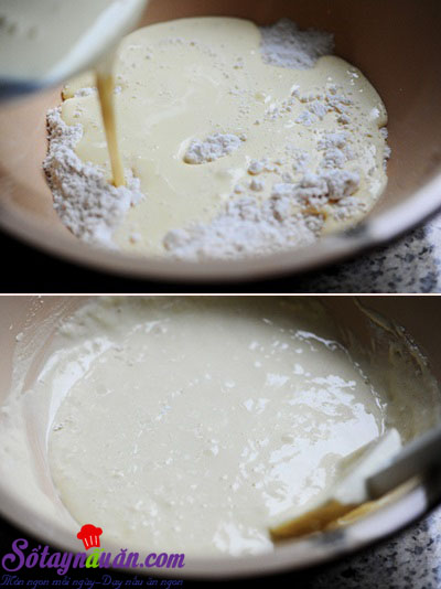 Cách làm bánh bông lan sữa mềm ngon ngây ngất 5