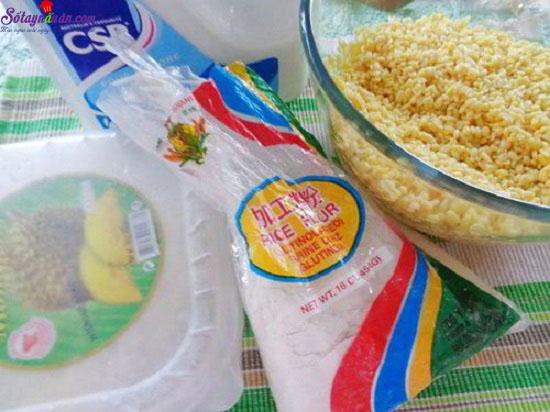 Cách làm bánh dẻo lá dứa nhân đậu xanh 1