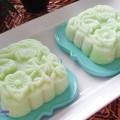 học cách làm bánh trôi nước lá nếp, Cách làm bánh dẻo lá dứa nhân đậu xanh 8