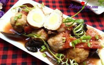 Nấu ăn món ngon mỗi ngày với Thịt lợn, Cách làm chả cá viên trứng cút ngon đậm đà đưa cơm kết quả