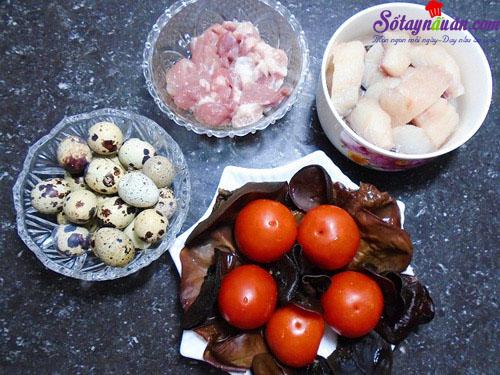 Cách làm chả cá viên trứng cút ngon đậm đà đưa cơm nguyên liệu