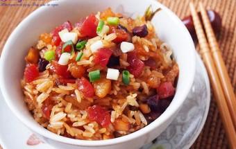 Nấu ăn món ngon mỗi ngày với Tôm khô, Cơm nếp chiên thập cẩm tuyệt ngon nhìn là muốn ăn ngay 7