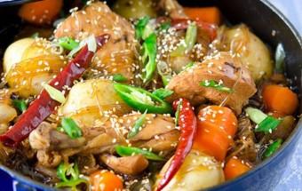 Nấu ăn món ngon mỗi ngày với Tỏi băm, cách làm miến gà om coca 9