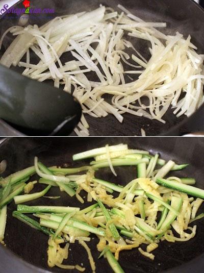 cách làm cơm trộn hải sản 9