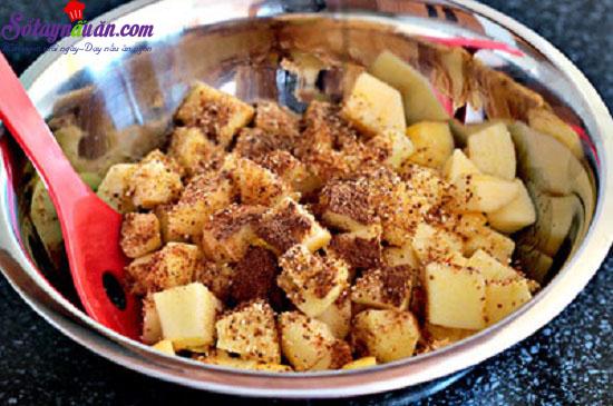 Cách làm món bánh crepe nhân táo 5