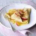 bánh cam hạnh nhân. bánh cam, Cách làm món bánh crepe nhân táo 12