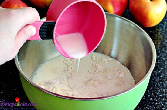 Cách làm món bánh crepe nhân táo 4