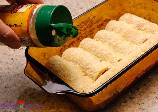 Cách làm món Lasagna cuộn phô mai của Ý ngày cuối tuần 8