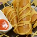 cách làm bánh gối cà ri, Cách làm pancake cuộn xúc xích bò băm kiểu Thái cực ngon kết quả