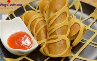 Nấu ăn món ngon mỗi ngày với Bột nở, Cách làm pancake cuộn xúc xích bò băm kiểu Thái cực ngon kết quả