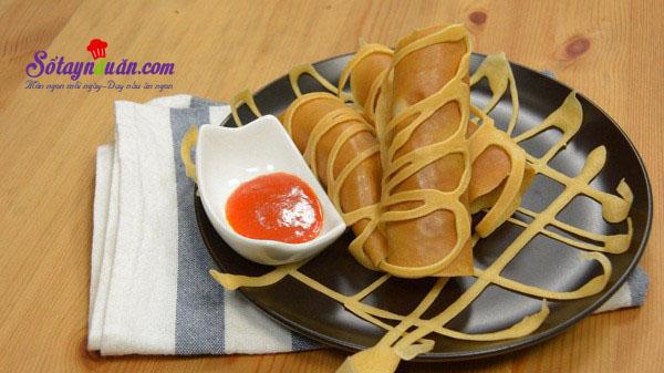 Cách làm pancake cuộn xúc xích bò băm kiểu Thái cực ngon kết quả