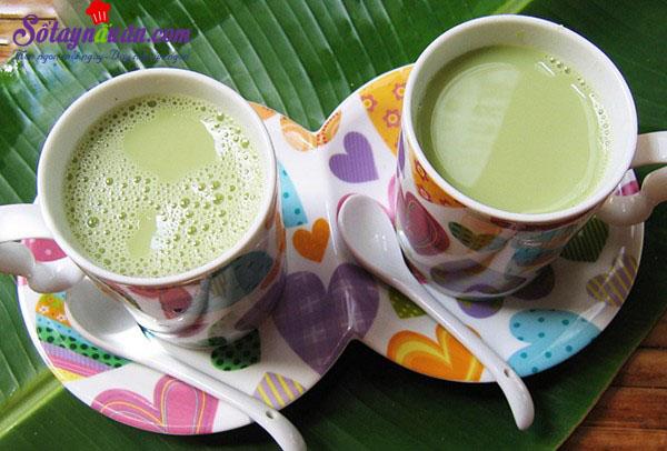 Cách làm sữa đậu nành lá dứa cho thời tiết se lạnh kết quả