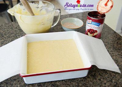 Công thức cho bánh bông lan cherry nướng thêm ngon 4