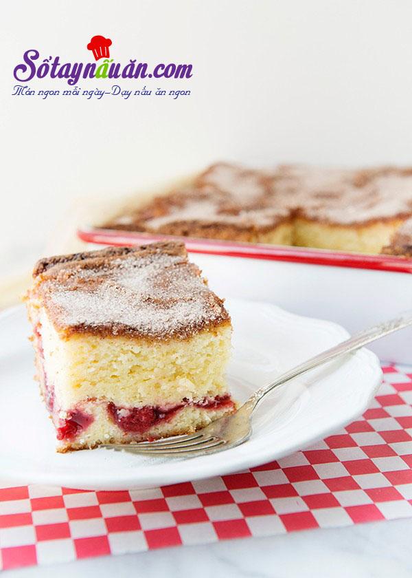 Công thức cho bánh bông lan cherry nướng thêm ngon kết quả