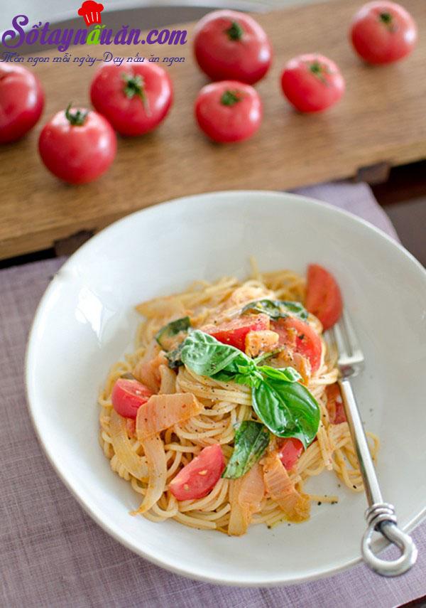 Công thức cho món spaghetti kim chi dai ngon từng sợi kết quả 1