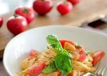 Công thức cho món spaghetti kim chi dai ngon từng sợi