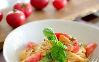 Nấu ăn món ngon mỗi ngày với Cà chua bi, Công thức cho món spaghetti kim chi dai ngon từng sợi kết quả