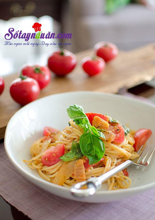 Công thức cho món spaghetti kim chi dai ngon từng sợi kết quả
