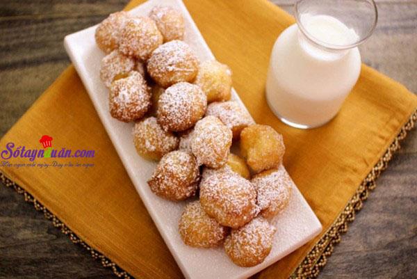Hướng dẫn làm bánh zeppole - bánh rán mini kiểu Ý cực dễ kết quả