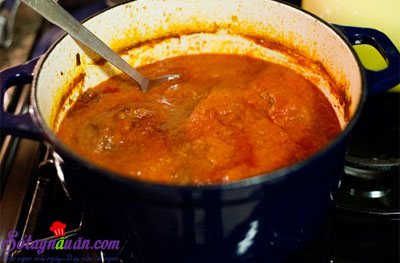 Thịt bò cuộn braciole ăn với pasta kiểu Ý  8