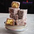 Bánh torte Napoleon kiểu Nga nhân sữa đặc siêu ngon, Công thức cho món bánh lamington xinh xắn từ nước Úc kết quả 1