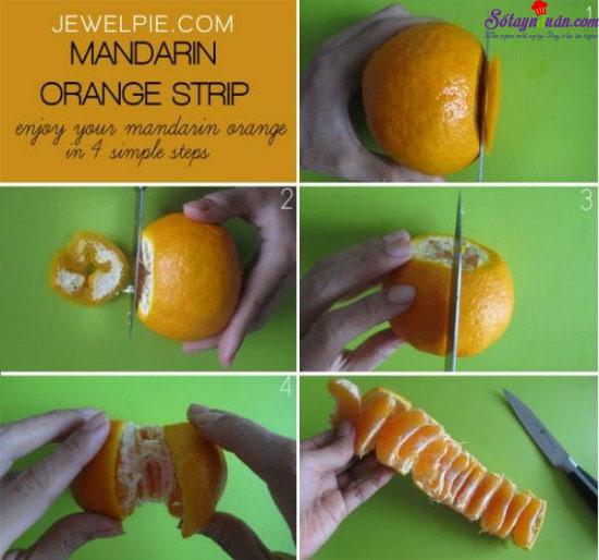 Mẹo gọt trái cây siêu nhanh 3