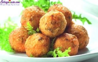 Nấu ăn, cách làm cá viên phô mai chiên 9