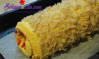 Công thức bánh bông lan cuộn trứng muối xốp mềm khó cưỡng 15