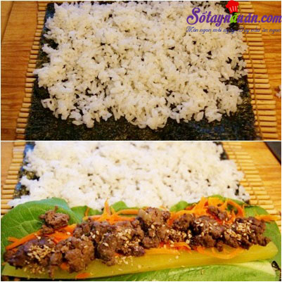 Công thức cho món trứng bọc kimbap bò ngon đúng điệu 4