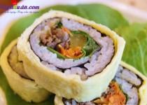 Công thức cho món trứng bọc kimbap bò ngon đúng điệu