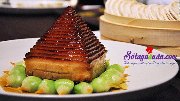 Độc đáo với thịt sốt hình kim tự tháp - món ngon Hàng Châu kết quả
