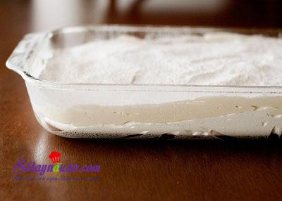 Hướng dẫn làm kẹo marshmallow 2 lớp dẻo, ngon hết sẩy 9